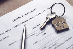 tenancy contract with keys above
